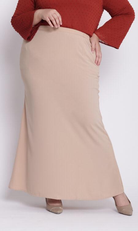 Amora Plus Mermaid Skirt Khaki