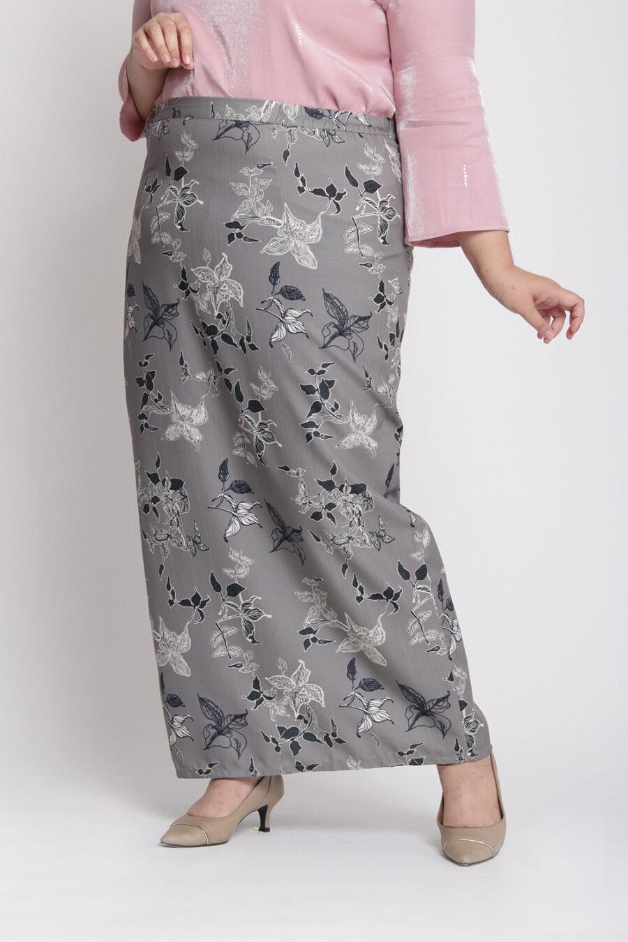 Amalia Plus Pencil Skirt Coco Brown