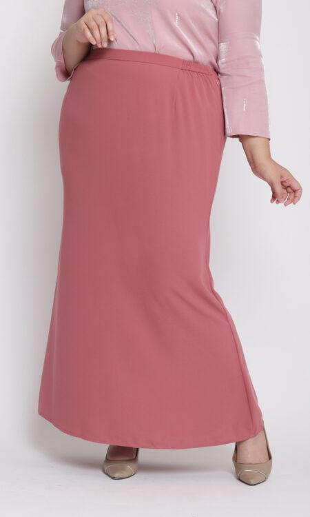 Amora Plus Mermaid Skirt Peach