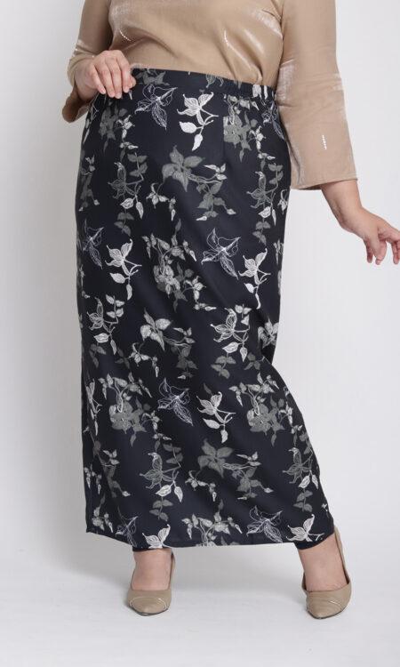 Amalia Plus Pencil Skirt Black