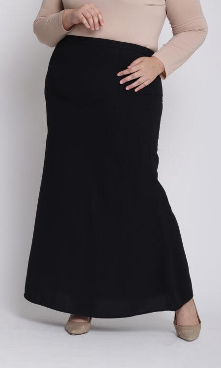 Amora Plus Mermaid Skirt Black