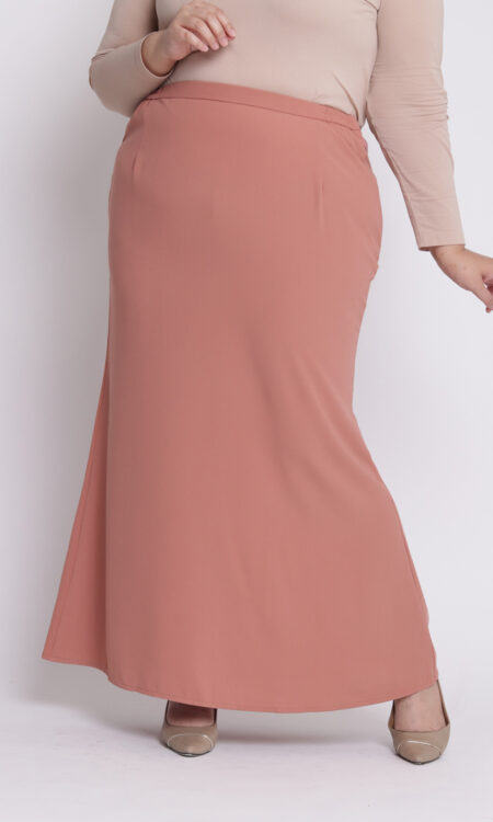 Amora Plus Mermaid Skirt Salmon