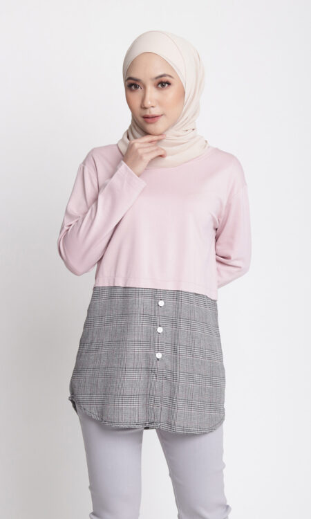 Laila Casual Top Dusty Pink